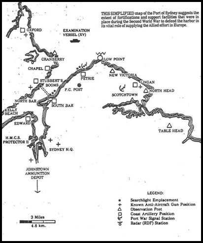(Map of Sydney Harbour WWII Fortifications, Cape Breton, Nova Scotia, Canada)
