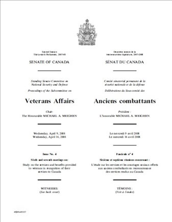 Second Session Thirty-ninth Parliament, 2007-08, SENATE OF CANADA