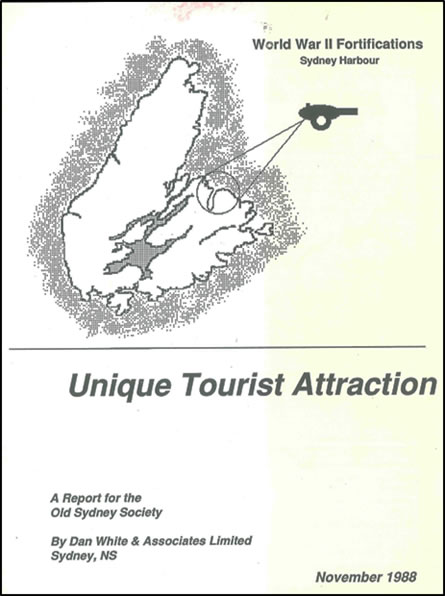 (Cover of the feasibility study carried out by Dan White and Associates – November 1988)